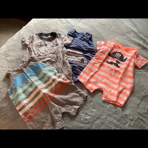 4 baby boy rompers